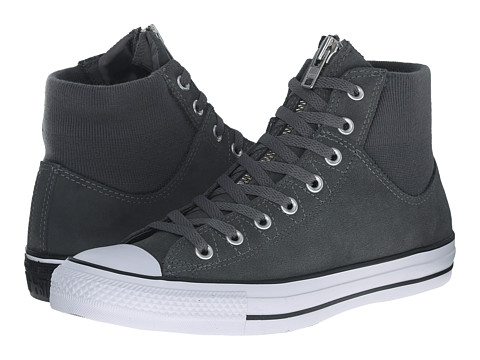 Converse - Chuck Taylor All Star MA-1 Zip Suede (Thunder/Thunder/White) Classic Shoes