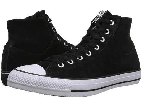 Converse - Chuck Taylor All Star MA-1 Zip Suede (Black/Black/White) Classic Shoes