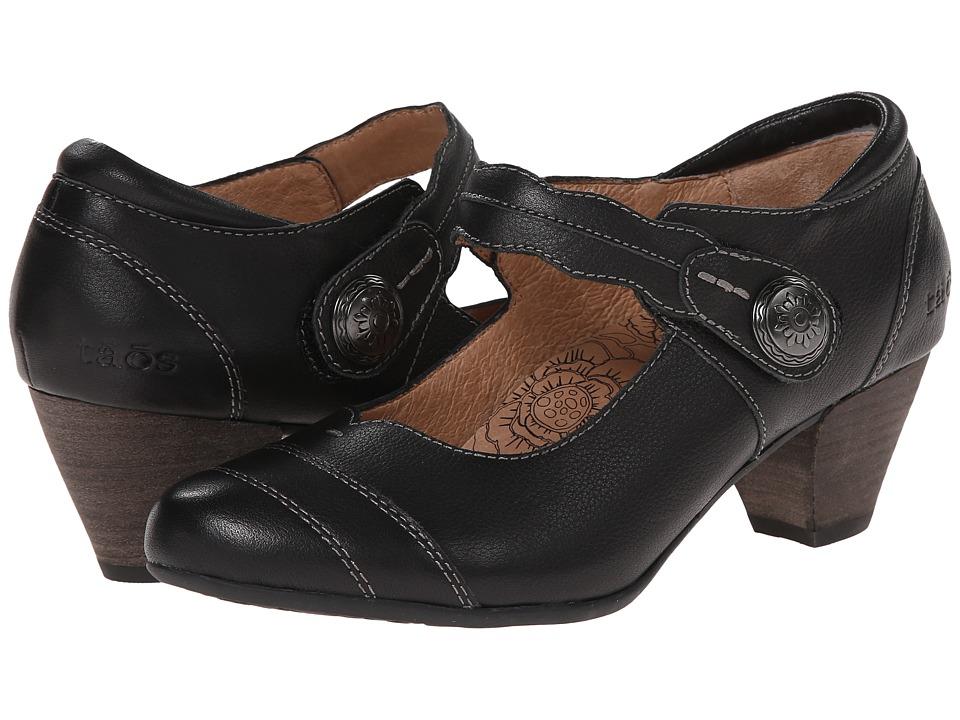 taos Footwear - Angel (Black Smooth) Women's Maryjane Shoes