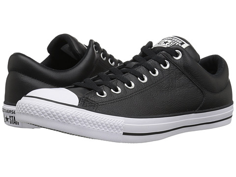Converse - Chuck Taylor All Star Hi Street Ox Leather (Black/Black/White) Men's Classic Shoes