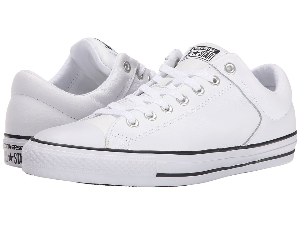 Converse - Chuck Taylor All Star Hi Street Ox Leather (White/Black/White) Men's Classic Shoes