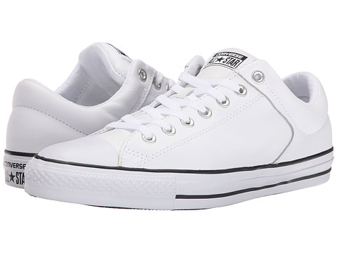 Converse - Chuck Taylor All Star Hi Street Ox Leather (White/Black/White) Men