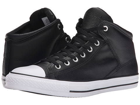 Converse - Chuck Taylor All Star Hi Street Leather (Black/White) Men's Classic Shoes