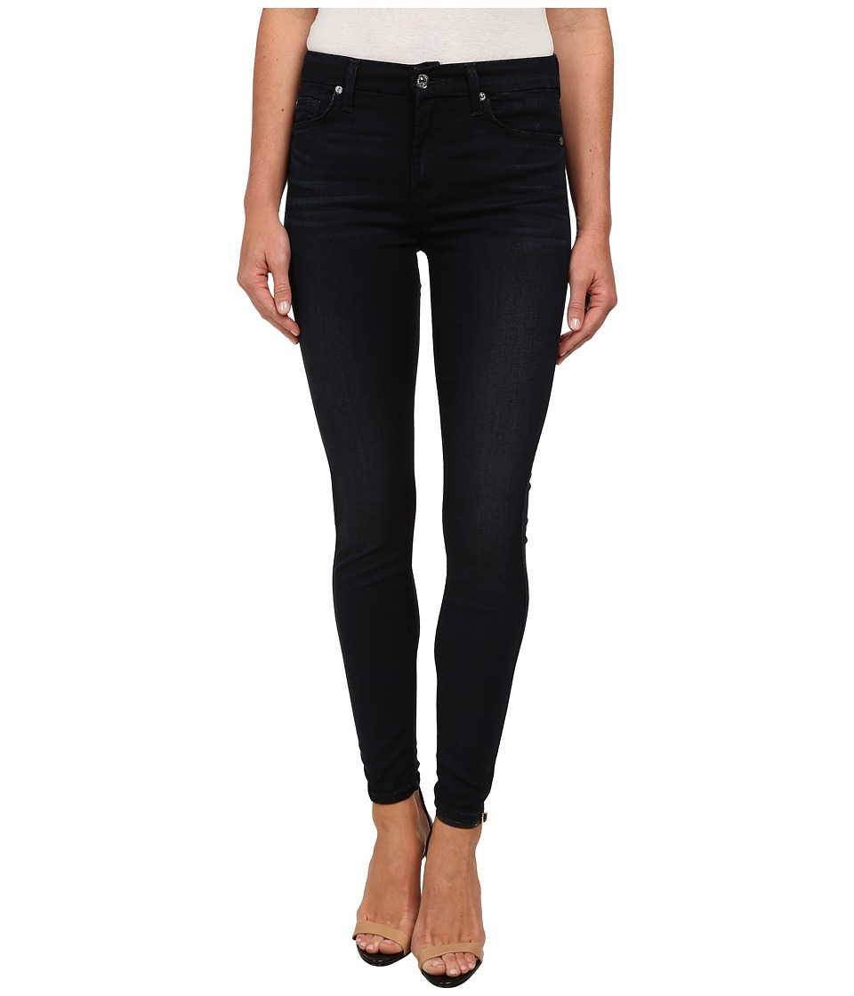 7 For All Mankind - The Mid Rise Ankle Skinny in Featherweight Clean Dark Blue (Featherweight Clean Dark Blue) Women's Jeans