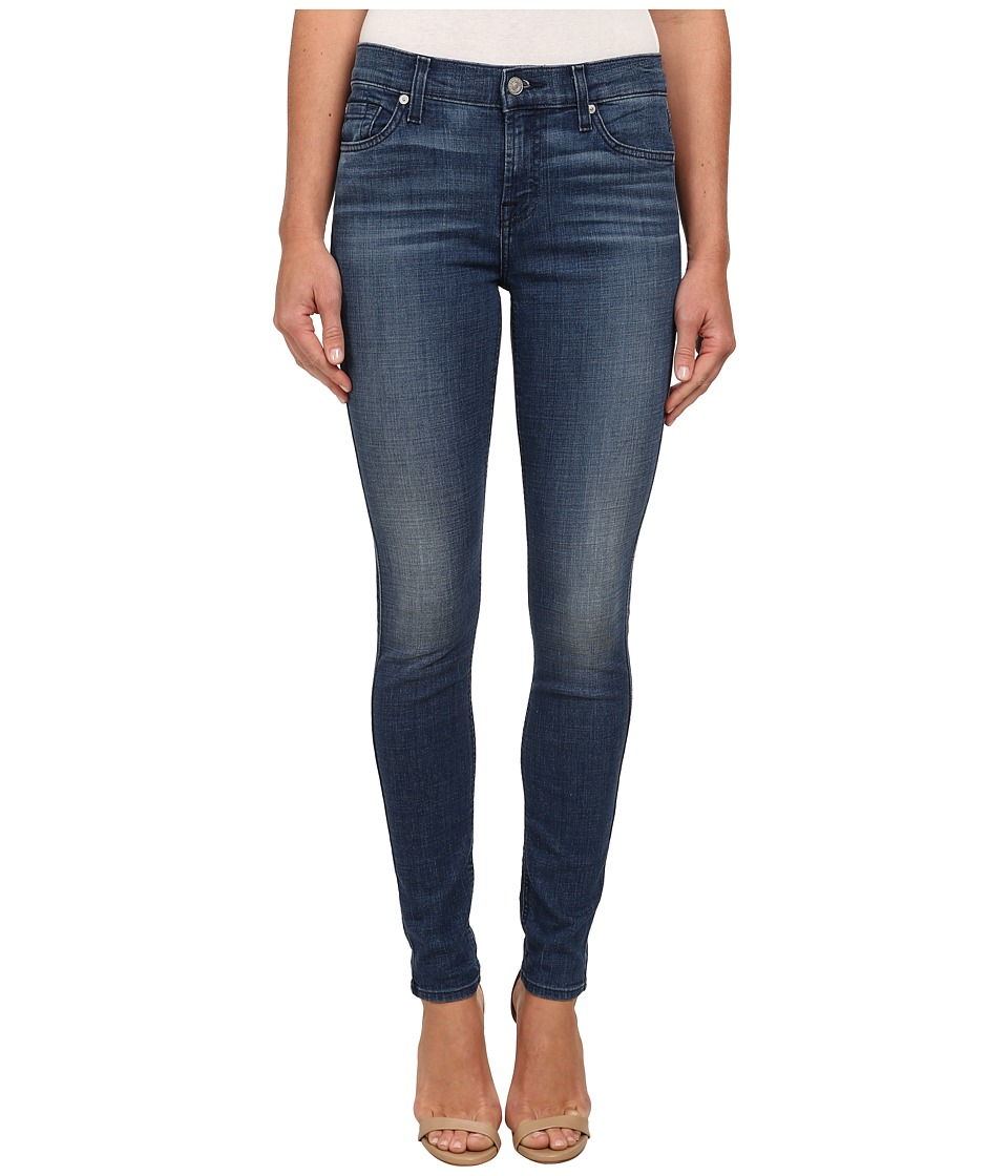 7 For All Mankind - The Skinny in Authentic Crisp Blue (Authentic Crisp Blue) Women