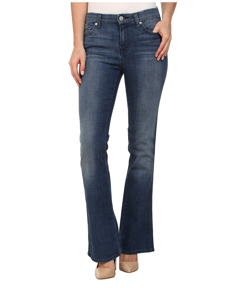 7 For All Mankind - Short Inseam A Pocket in Authentic Crisp Blue (Authentic Crisp Blue) Women's Jeans