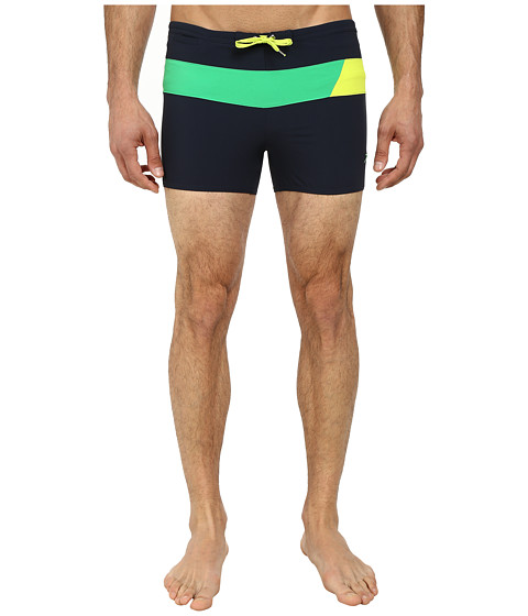 Speedo - Horizontal Prism 4-Way Square Leg (New Navy) Men's Swimwear