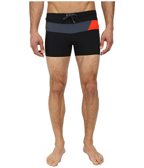 Speedo - Horizontal Prism 4-Way Square Leg (Black) Men's Swimwear
