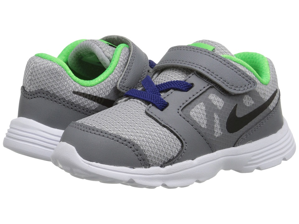 Nike Kids - Downshifter 6 (Infant/Toddler) (Wolf Grey/Deep Royal Blue/White/Black) Boys Shoes