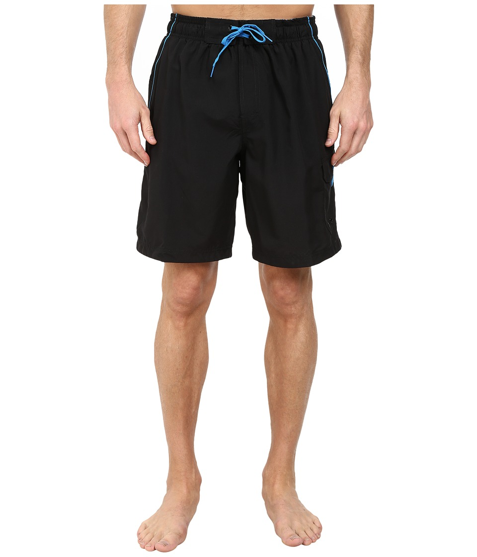 Speedo - Marina Volley Swim Trunk (Black/Blue) Men's Swimwear