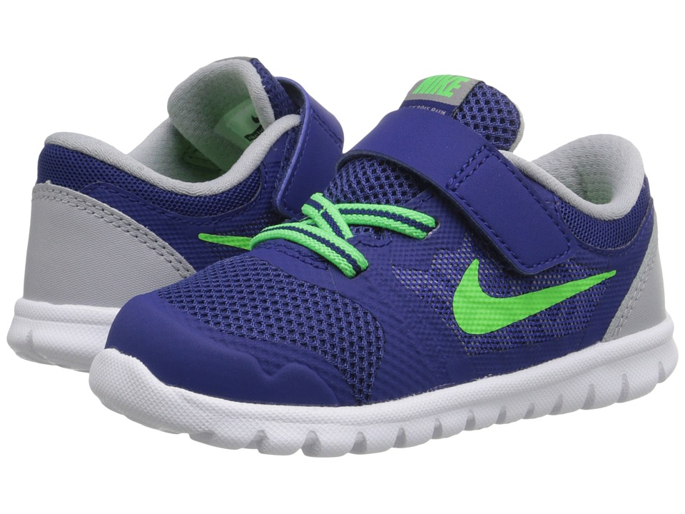 Nike Kids - Flex 2015 Run (Infant/Toddler) (Deep Royal Blue/Wolf Grey/White/Green Strike) Boys Shoes