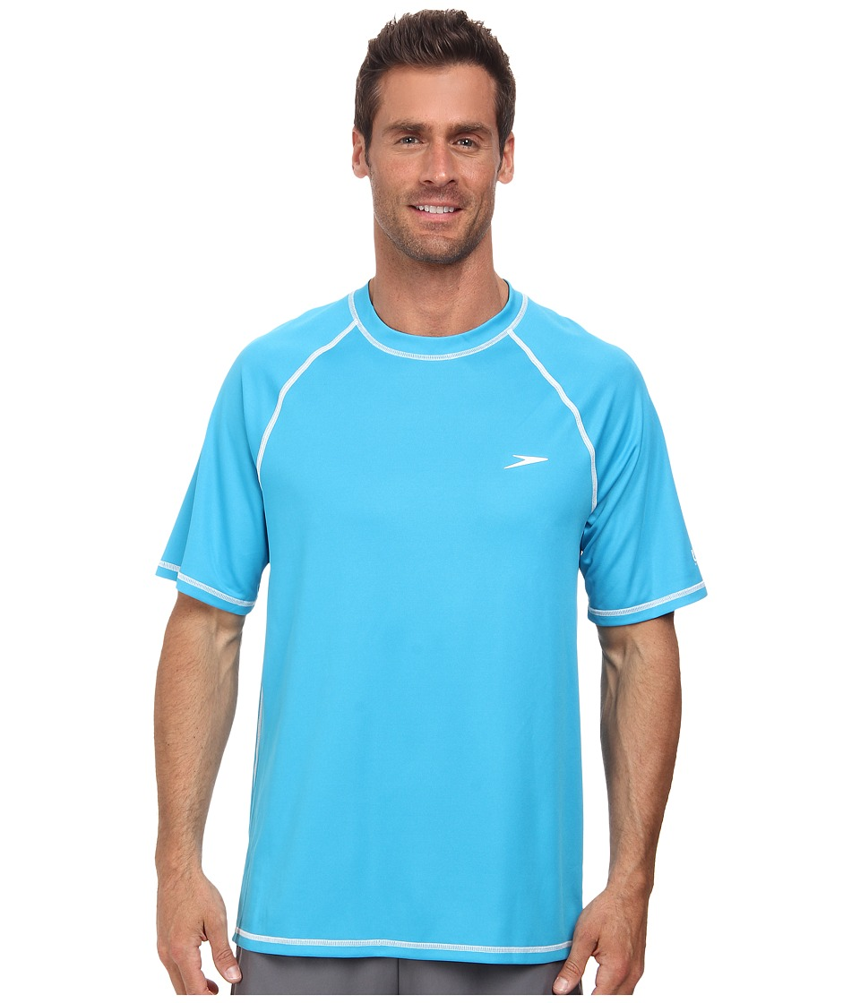 Speedo - Easy S/S Swim Tee (Cyan Blue) Men's Swimwear