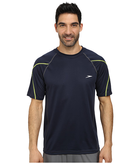 Speedo - Breaker Short Sleeve Swim Tee (New Navy) Men