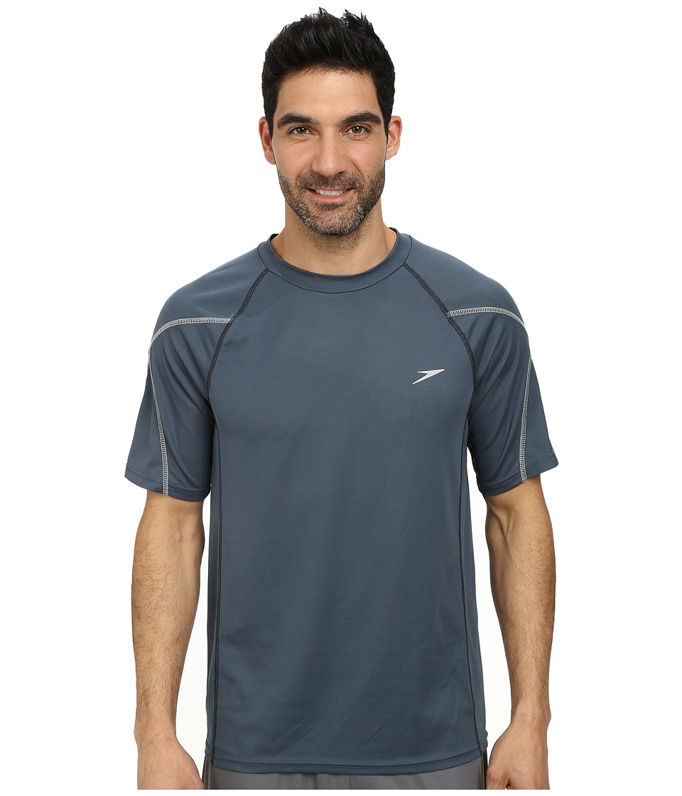Speedo - Breaker Short Sleeve Swim Tee (Granite) Men