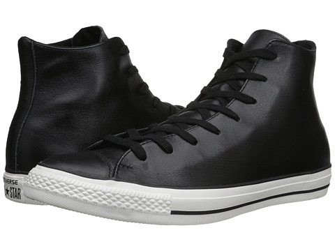 Converse - Chuck Taylor All Star Hi Craft Leather (Black/Black/Egret) Classic Shoes