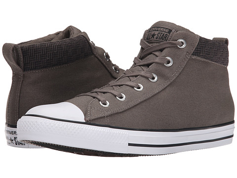 Converse - Chuck Taylor All Star Street Hi (Charcoal/Black/White) Men's Classic Shoes