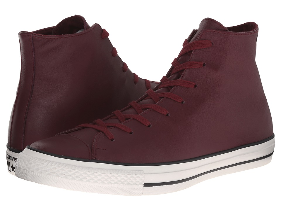 Converse - Chuck Taylor All Star Hi Craft Leather (Deep Bordeaux/Egret) Classic Shoes