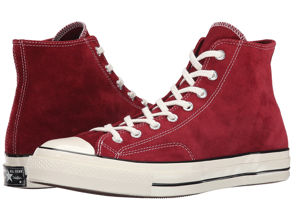 Converse - Chuck Taylor All Star 70 Hi Suede (Red Dahlia/Black/Egret) Men