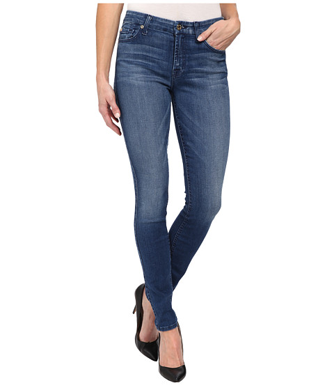 7 For All Mankind - Mid Rise Skinny w/ Contour Waistband in Lake Dillon Medium Bright (Lake Dillon Medium Bright) Women's Jeans