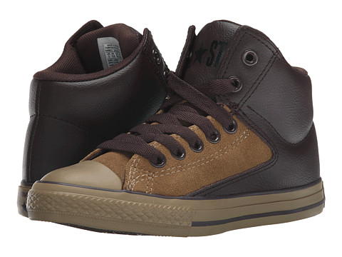Converse Kids - Chuck Taylor All Star HI Street Hi (Little Kid/Big Kid) (Sand Dune/Burnt Umber) Boys Shoes