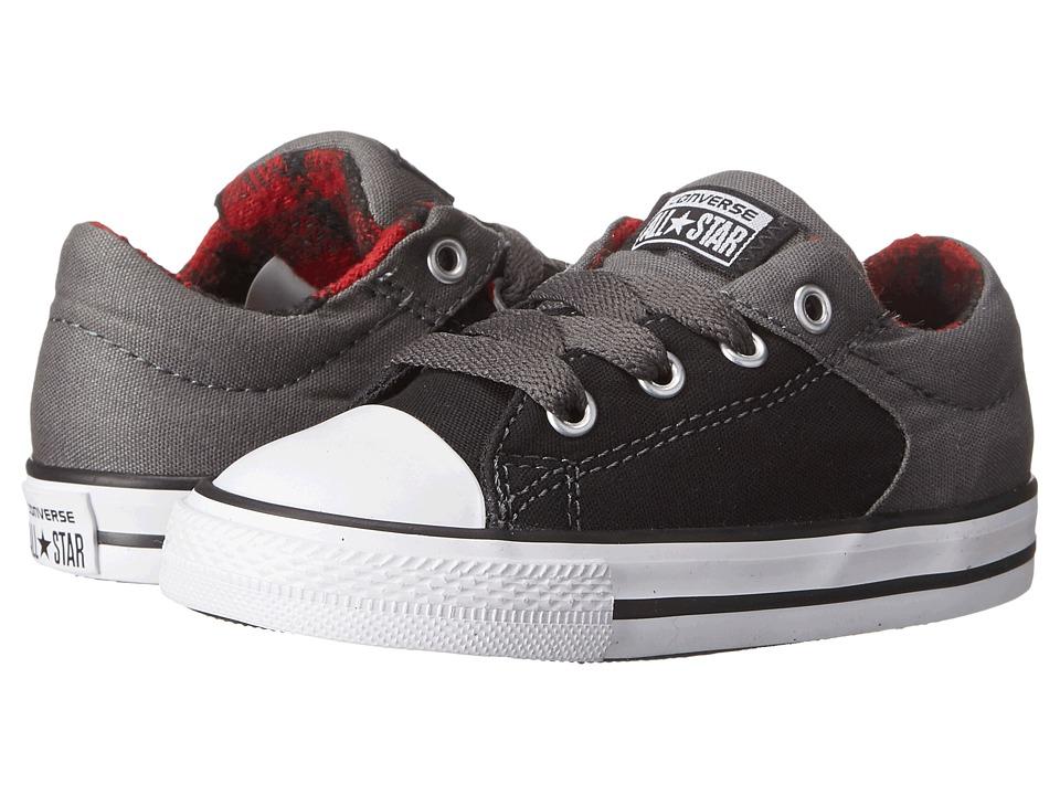 Converse Kids - Chuck Taylor All Star HI Street Ox Plaid (Infant/Toddler) (Black/Thunder/Casino) Boys Shoes