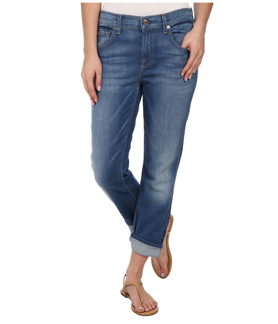 7 For All Mankind - The Cropped Relaxed Skinny in Weekend Denim Medium (Weekend Denim Medium) Women