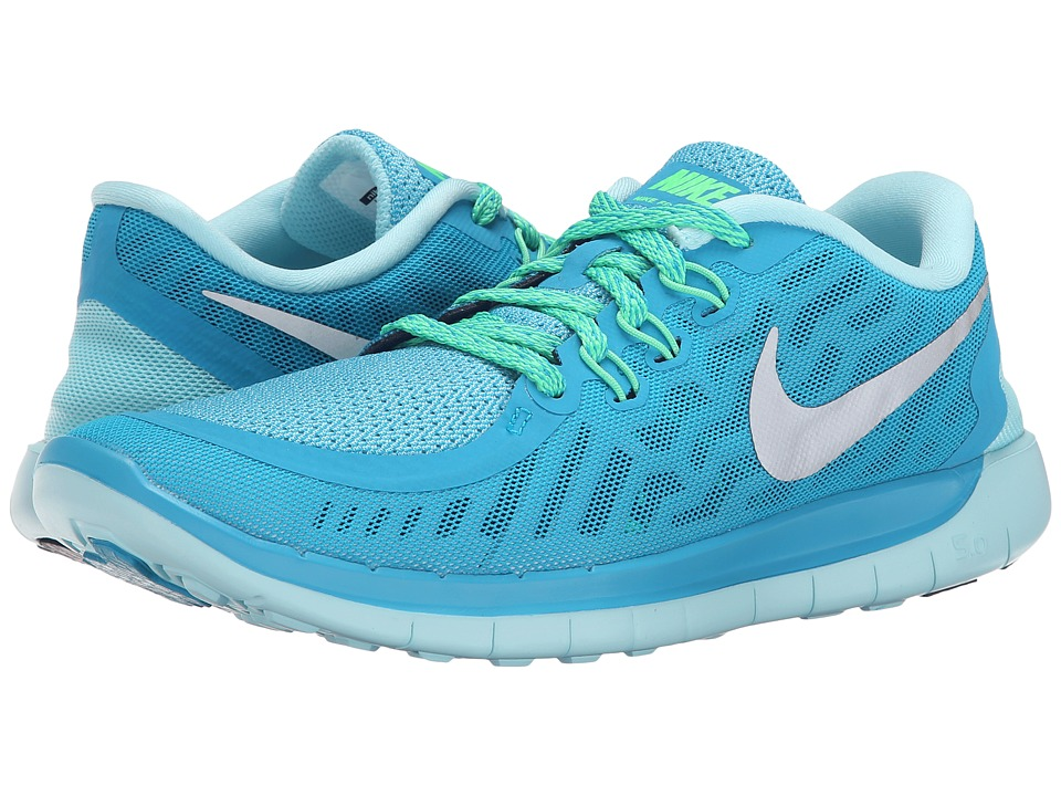 Nike Kids - Free 5.0 (Big Kid) (Blue Lagoon/Midnight Navy/Copa/Metallic Silver) Girls Shoes