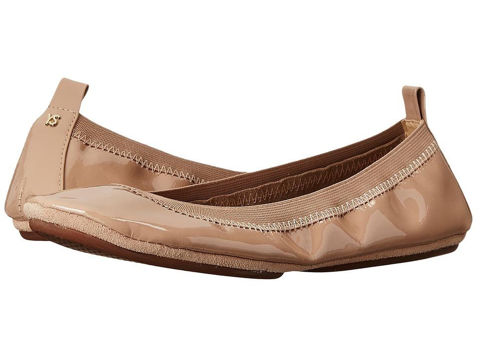 Yosi Samra Samara Soft Patent Leather Fold Up Flat (Blush) Women