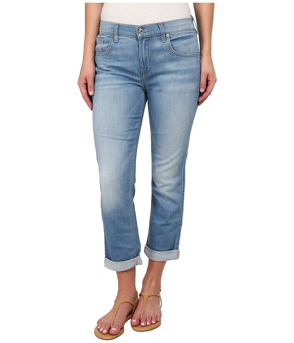 7 For All Mankind - The Cropped Relaxed Skinny in Weekend Denim Light (Weekend Denim Light) Women