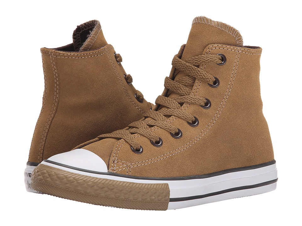 Converse Kids - Chuck Taylor All Star Suede Hi (Little Kid/Big Kid) (Sand Dune/White) Boys Shoes