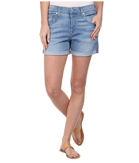 7 For All Mankind - Relaxed Shorts in Weekend Denim Light (Weekend Denim Light) Women