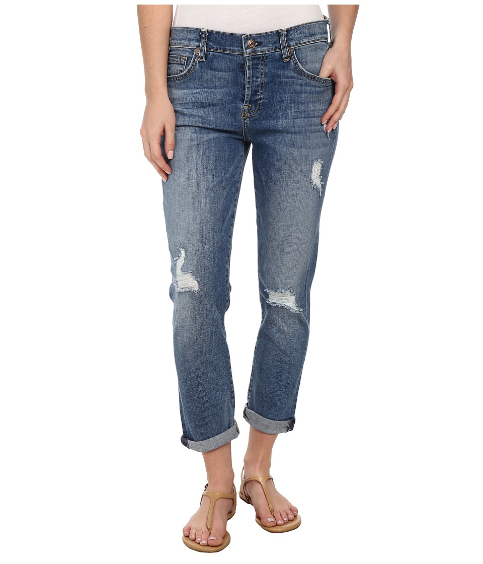 7 For All Mankind - Josefina w/ Destroy in Sloan Heritage Medium Light (Sloan Heritage Medium Light) Women's Jeans