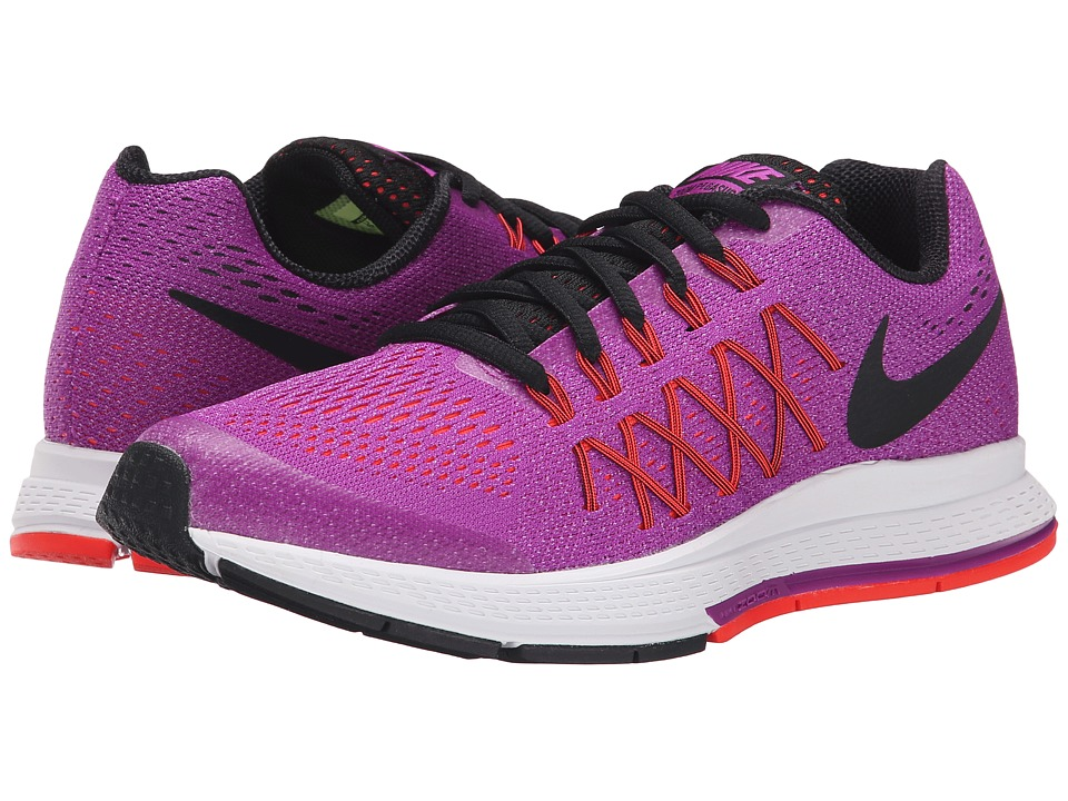 Nike Kids - Zoom Pegasus 32 (Little Kid/Big Kid) (Vivid Purple/Bright Crimson/Fuchsia Glow/Black) Girls Shoes