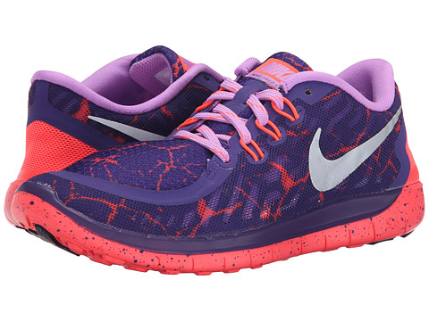 Nike Kids - Free 5.0 Lava (Big Kid) (Court Purple/Fuchsia Glow/Hot Lava/Metallic Silver) Girls Shoes