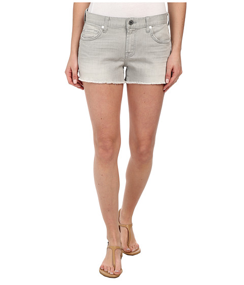 7 For All Mankind - Cut Off Shorts in Distressed Spring Grey (Distressed Spring Grey) Women