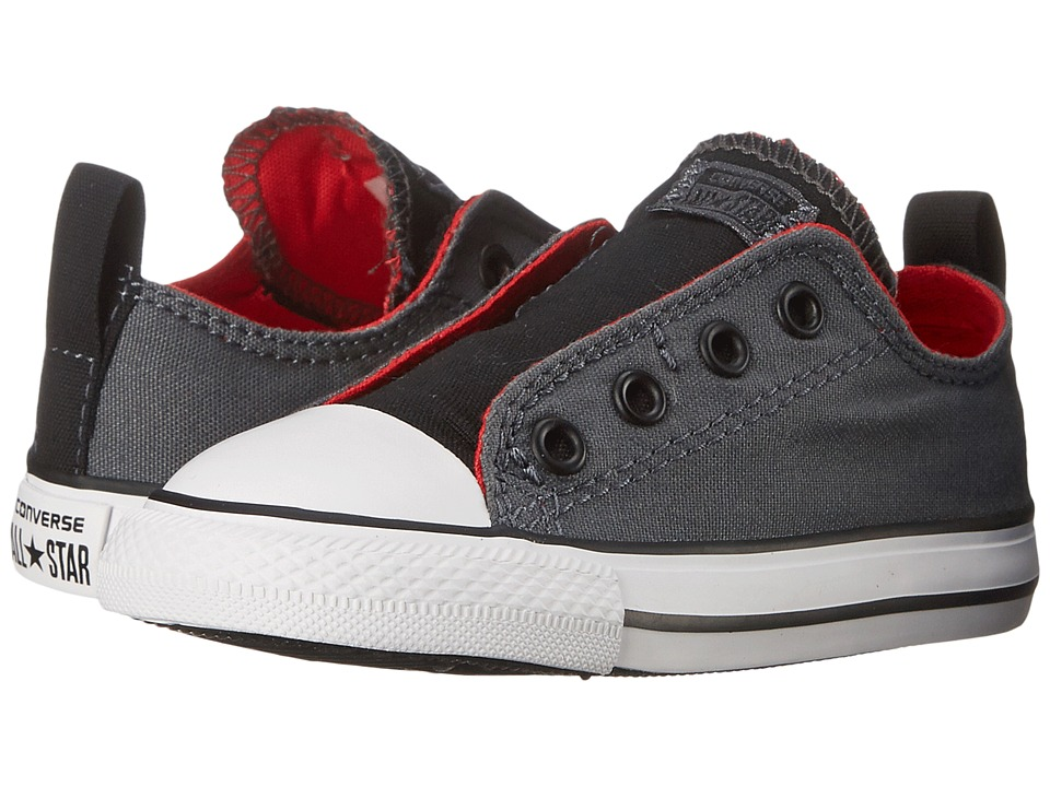 Converse Kids - Chuck Taylor All Star Simple Slip (Infant/Toddler) (Thunder/Casino/Black) Boy's Shoes