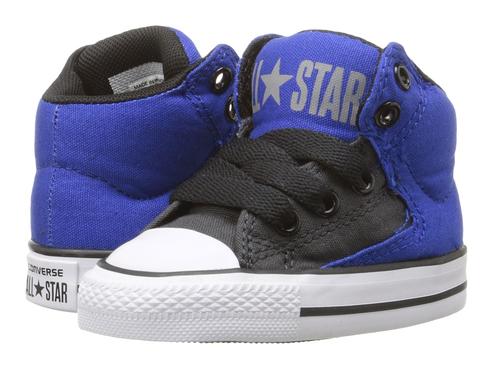 Converse Kids - Chuck Taylor All Star HI Street Hi (Infant/Toddler) (Blue/Storm Wind/Black) Boys Shoes