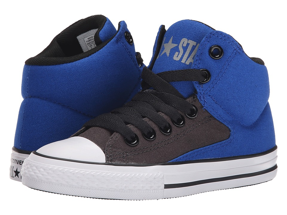 Converse Kids - Chuck Taylor All Star HI Street Hi (Little Kid/Big Kid) (Blue/Storm Wind/Black) Boys Shoes