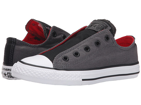 Converse Kids - Chuck Taylor All Star Slip Ox (Little Kid/Big Kid) (Thunder/Casino/Black) Boys Shoes