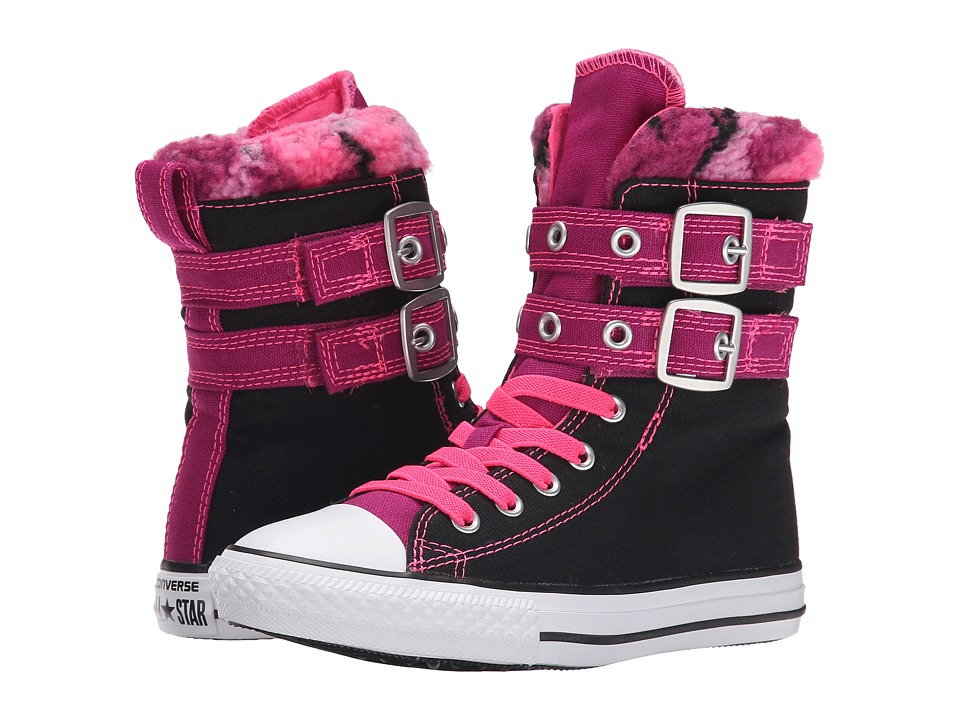 Converse Kids - Chuck Taylor All Star Glendale Xhi (Little Kid/Big Kid) (Black/Pink Sapphire/Neo Pink) Girls Shoes