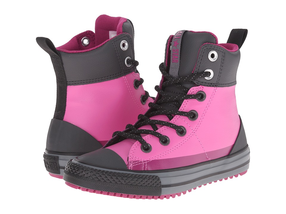 Converse Kids - Chuck Taylor All Star Asphalt Boot (Little Kid/Big Kid) (Dahlia Pink/Storm Wind) Girls Shoes