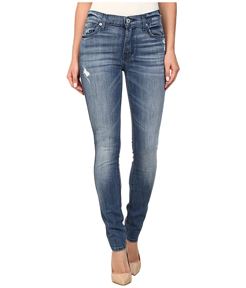 7 For All Mankind - The Skinny w/ Squiggle in Red Cast Heritage Blue (Red Cast Heritage Blue) Women's Jeans