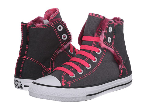 Converse Kids - Chuck Taylor All Star Easy Hi - Camo Fur (Little Kid/Big Kid) (Thunder/Pink Sapphire) Girl's Shoes