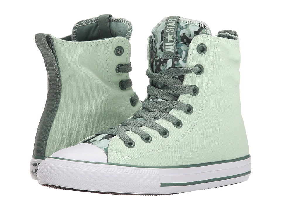 Converse Kids - Chuck Taylor All Star Slip It (Little Kid/Big Kid) (Mint Julep/Sage/White) Girls Shoes