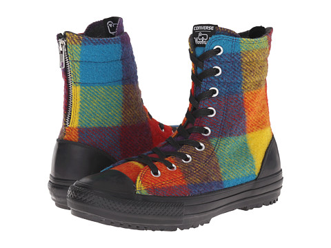 Converse - Chuck Taylor All Star Hi-Rise Woolrich Boot X-Hi (Yellow Bird/Cyan Space/Black) Women's Classic Shoes