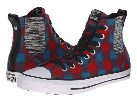 Converse - Chuck Taylor All Star Chelsee Woolrich Hi (Casino/Cyan Space/White) Women's Classic Shoes