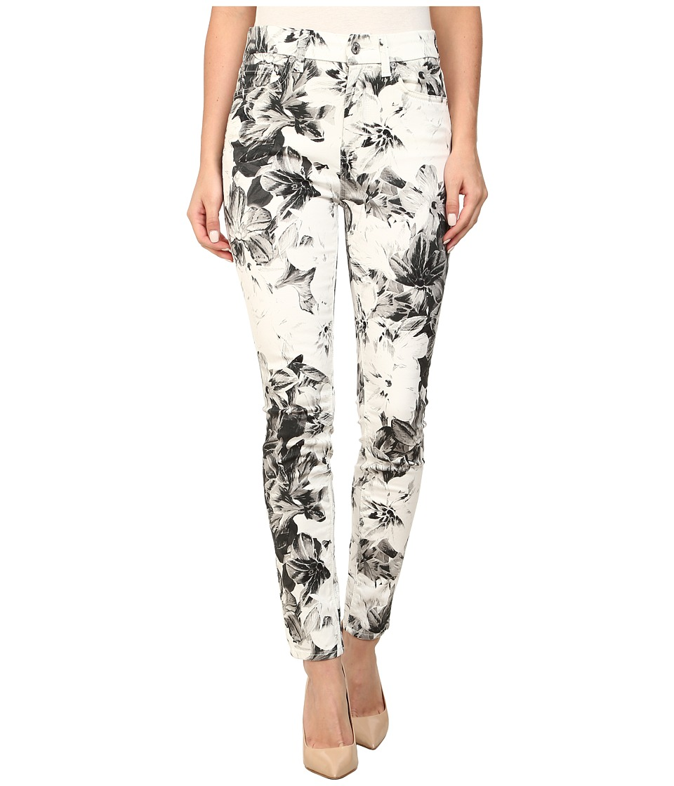 7 For All Mankind - High Waist Ankle Skinny w/ Contour Waistband in X-Ray Floral (X-Ray Floral) Women's Jeans