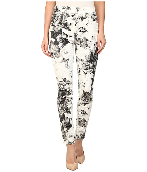 7 For All Mankind - High Waist Ankle Skinny w/ Contour Waistband in X-Ray Floral (X-Ray Floral) Women