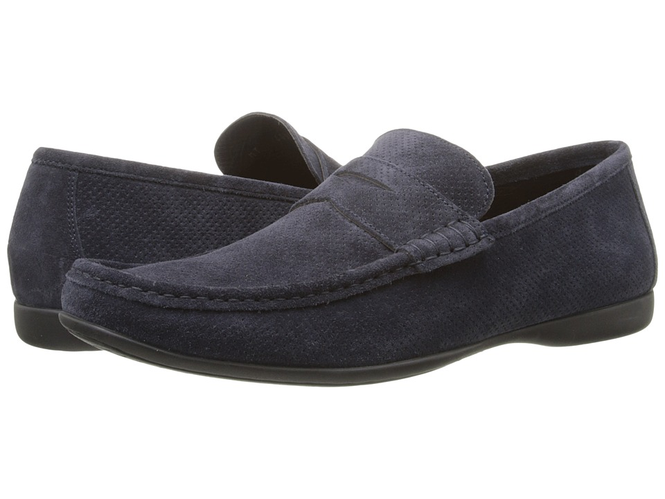 Bruno Magli - Partie (Navy Perforated) Men's Slip-on Dress Shoes
