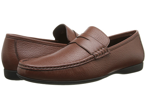 BRUNO MAGLI - Partie (Brown Stamped) Men's Slip-on Dress Shoes